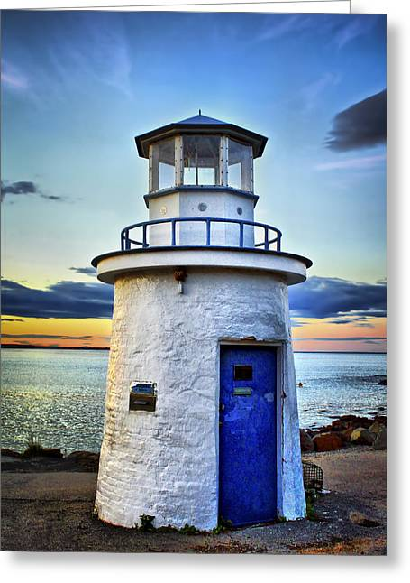New England Lighthouse Greeting Cards - Miniature Lighthouse Greeting Card by Evelina Kremsdorf