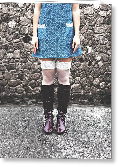 Turquois Greeting Cards - Minidress Greeting Card by Joana Kruse
