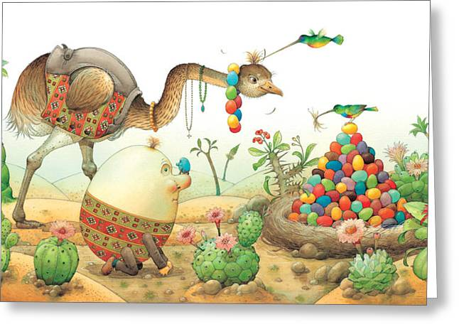 Egg Greeting Cards - Minieggs and Maxiegg Greeting Card by Kestutis Kasparavicius