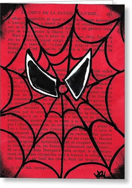 Ilustration Greeting Cards - Minimal Spiderman Greeting Card by Jera Sky
