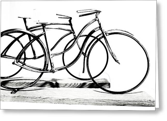 Scuplture Greeting Cards - Minimalist cycles Greeting Card by Rrrose Pix