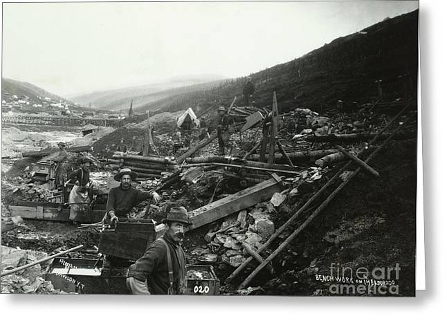 Klondike Gold Rush Greeting Cards - Mining For Gold Greeting Card by Photo Researchers