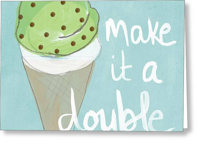 Ice Greeting Cards - Mint Chip Greeting Card by Linda Woods