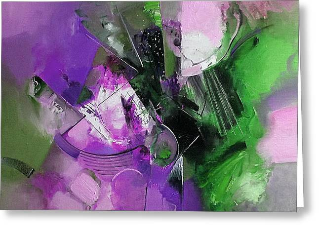 Purple Abstract Greeting Cards - Mirage in Purple Greeting Card by Ognian Kuzmanov