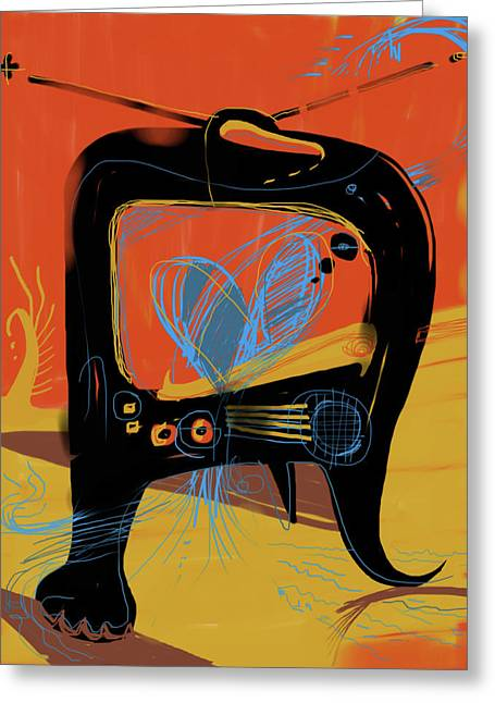 I Love Lucy Greeting Cards - Miro andMax Watch Lucy Greeting Card by Russell Pierce