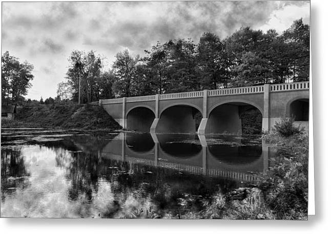 Bridge Greeting Cards - Mirror Bridge Greeting Card by Peter Chilelli