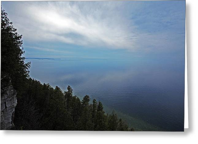 Fish Creek Greeting Cards - Mirror Clouds Greeting Card by Ty Helbach