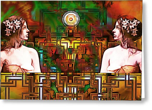 Lucent Dreaming Greeting Cards - Mirror Greeting Card by Nikola Durdevic