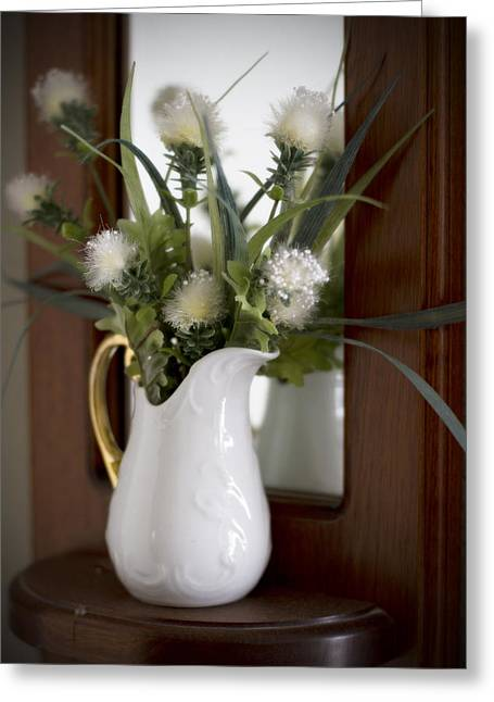 Still Life Photographs Greeting Cards - Mirrored Vase Greeting Card by Mike Hill