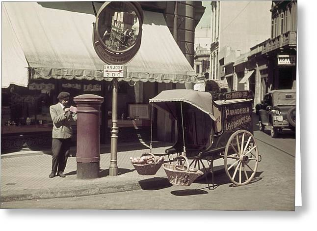 Period Photography Greeting Cards - Mirrors At Sharp Corners Help Motorists Greeting Card by Luis Marden