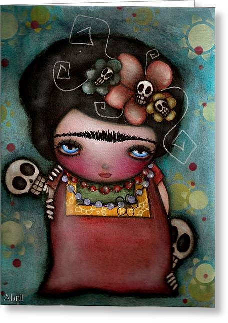 Dia De Los Muertos Art Greeting Cards - Mis Amigos Greeting Card by  Abril Andrade Griffith