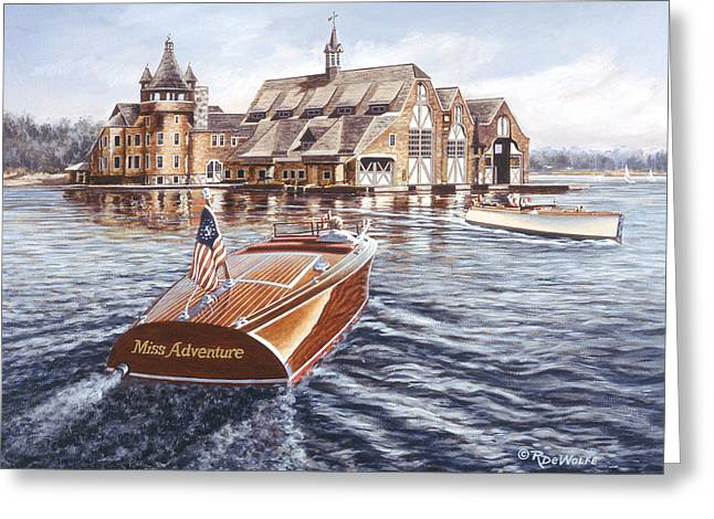 Bay St. Lawrence Greeting Cards - Miss Adventure Greeting Card by Richard De Wolfe
