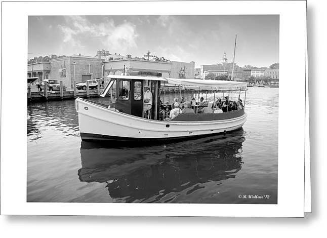 Heading Out Greeting Cards - Miss Anne - grayscale Greeting Card by Brian Wallace