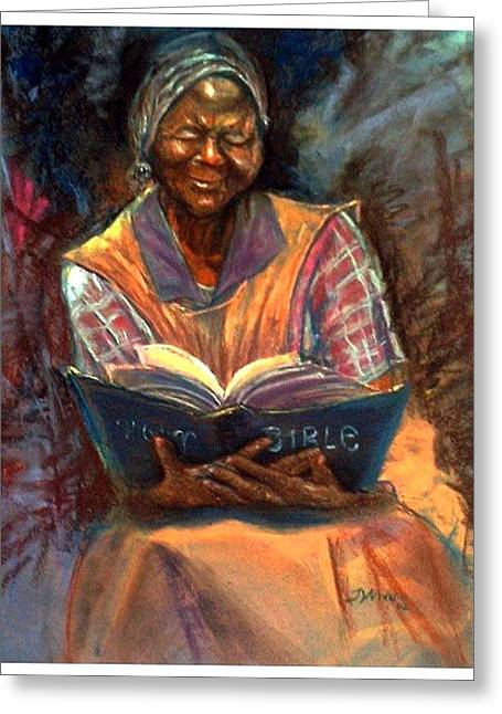 Bible Pastels Greeting Cards - Miss Betty Greeting Card by Tommy  Winn