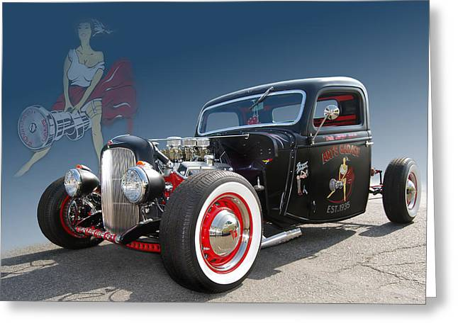 Camshaft Greeting Cards - Miss Camshaft Greeting Card by Bill Dutting