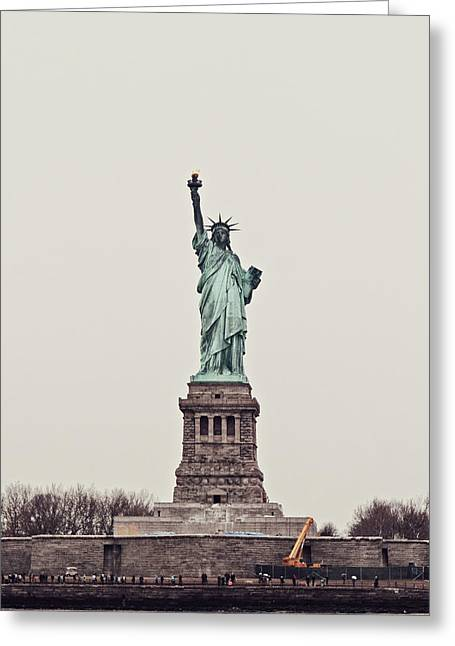 Miss Liberty Greeting Card by Benjamin Matthijs