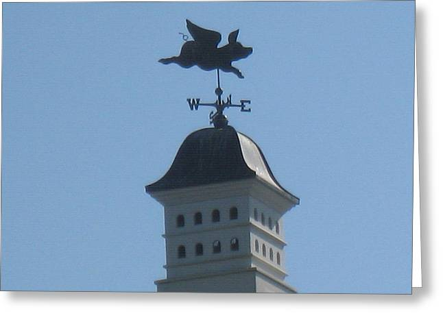 Weathervane Greeting Cards - Miss Piggy Greeting Card by Maggie Tear