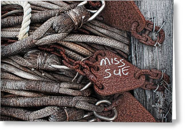 Oregon Fishing Greeting Cards - Miss Sue Greeting Card by Elena Nosyreva