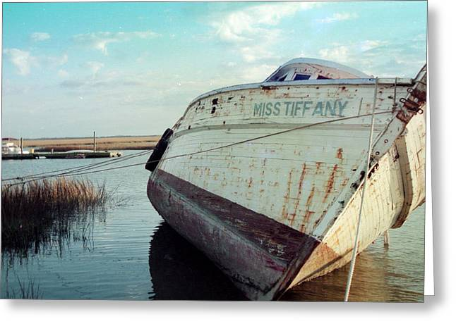 Boats On Water Greeting Cards - Miss Tiffany Greeting Card by Patricia Greer