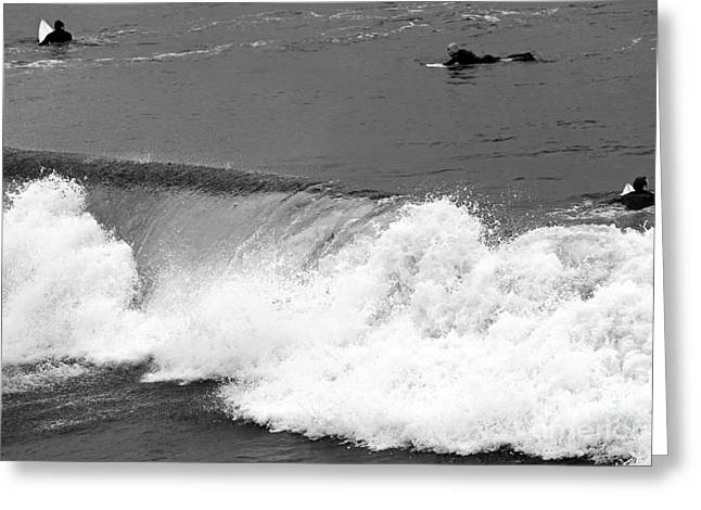Surfer Art Greeting Cards - Missed Opportunity Greeting Card by John Rizzuto