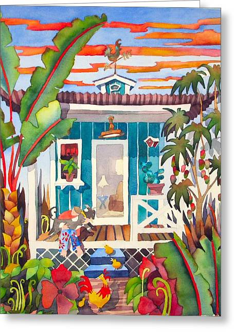 Kauai Dog Greeting Cards - Missed You Little Doggie Greeting Card by Codie Carman