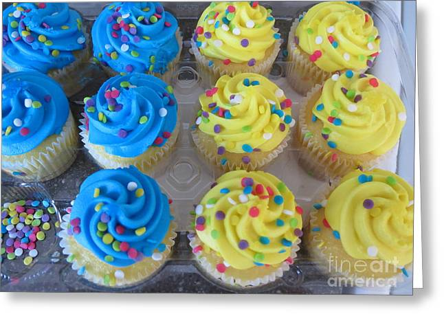 Frosting Greeting Cards - Missing Cupcake Greeting Card by Vijay Sharon Govender