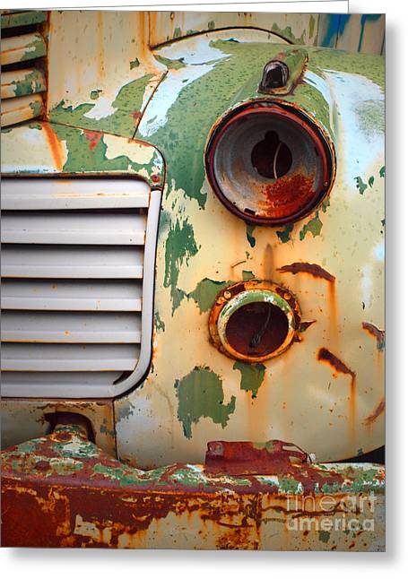 Rusted Cars Greeting Cards - Missing Parts Greeting Card by Tara Turner