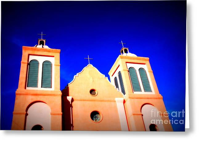 Silver City Greeting Cards - Mission Church Silver City NM Greeting Card by Susanne Van Hulst