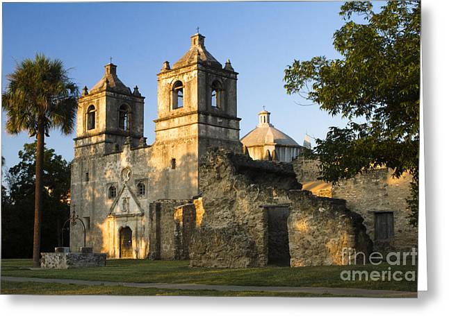 Dreamy Greeting Cards - Mission Concepcion in the evening Greeting Card by Ellie Teramoto
