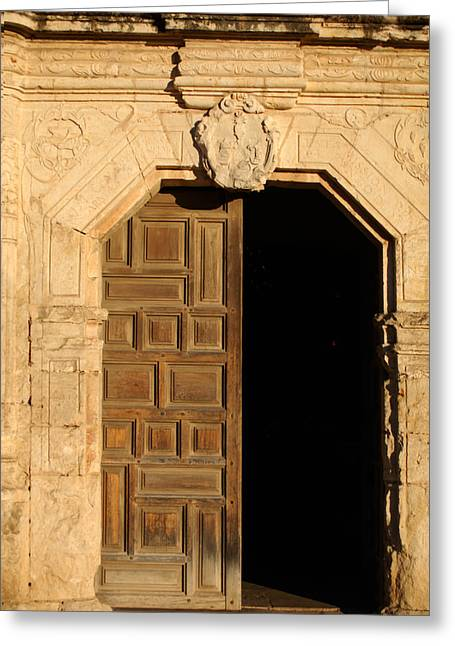 Historic Architecture Greeting Cards - Mission Entry Greeting Card by Jill Reger