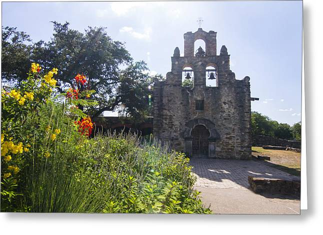 Heaven Greeting Cards - Mission Espada under the summer sky Greeting Card by Ellie Teramoto