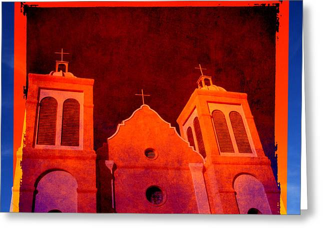 Silver City Greeting Cards - Mission in New Mexico Greeting Card by Susanne Van Hulst