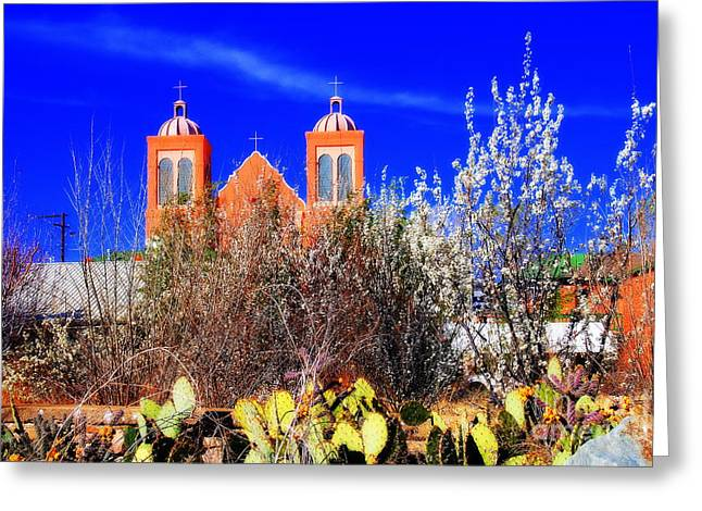 Silver City Greeting Cards - Mission in Silver City NM Greeting Card by Susanne Van Hulst