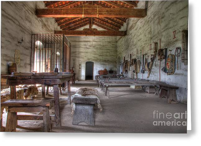 Mission La Purisima Main Quarters Greeting Card by Bob Christopher