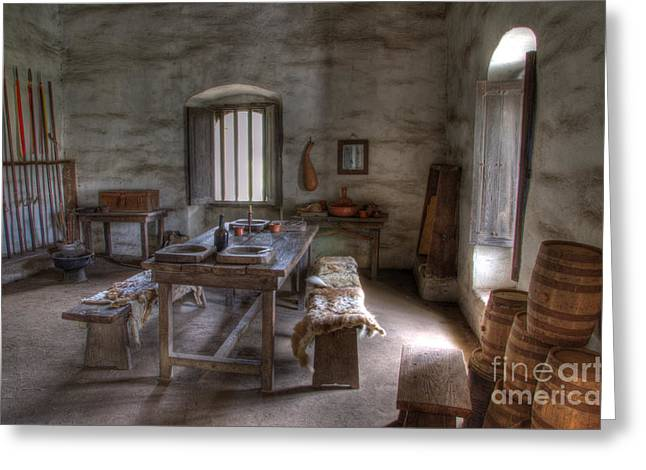 American Heritage Greeting Cards - Mission La Purisma Armory Greeting Card by Bob Christopher