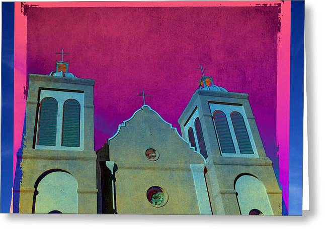 Silver City Greeting Cards - Mission New Mexico Var.2 Greeting Card by Susanne Van Hulst