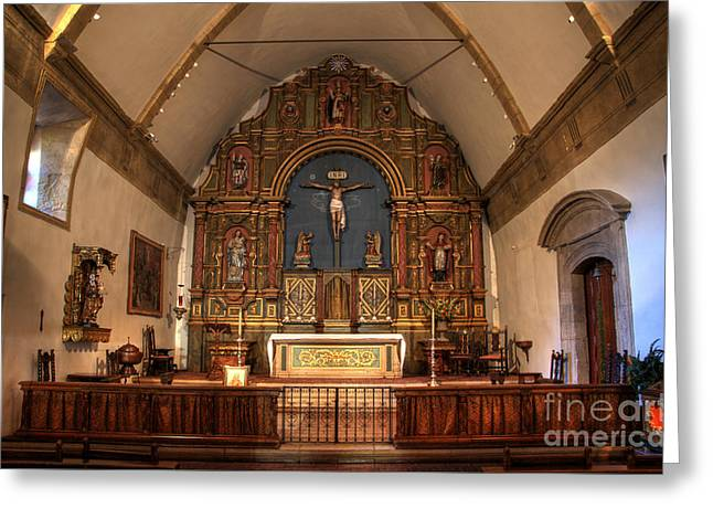 Mission San Carlos Borromeo De Carmelo  11 Greeting Card by Bob Christopher