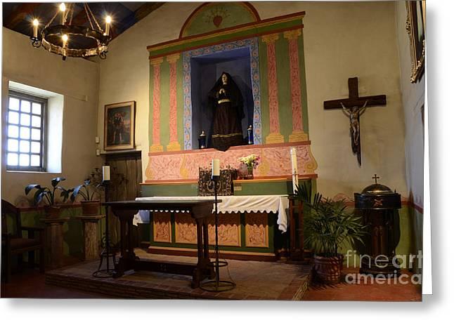 Borromeo Greeting Cards - Mission San Carlos Borromeo de Carmelo 5 Greeting Card by Bob Christopher