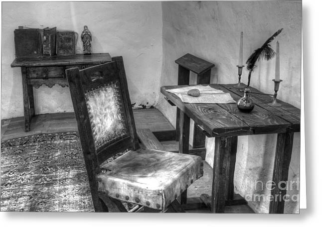 Mission San Diego De Alcala Writing Table Greeting Card by Bob Christopher