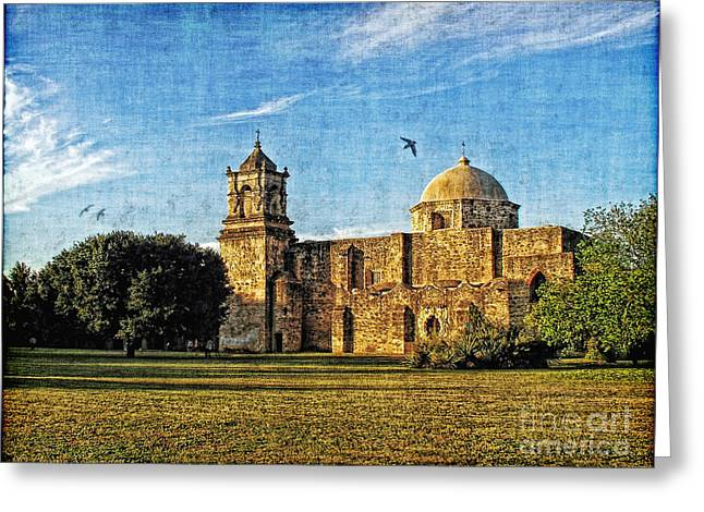 Lianne Schneider Fine Art Print Greeting Cards - Mission San Jose Greeting Card by Lianne Schneider