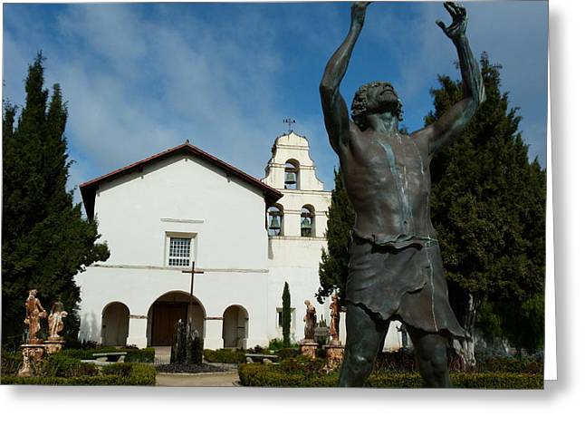Mission San Juan Bautista Greeting Card by Jeff Lowe