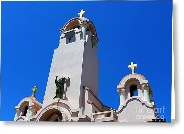 Mission San Rafael Greeting Cards - Mission San Rafael Arcangel Greeting Card by Methune Hively