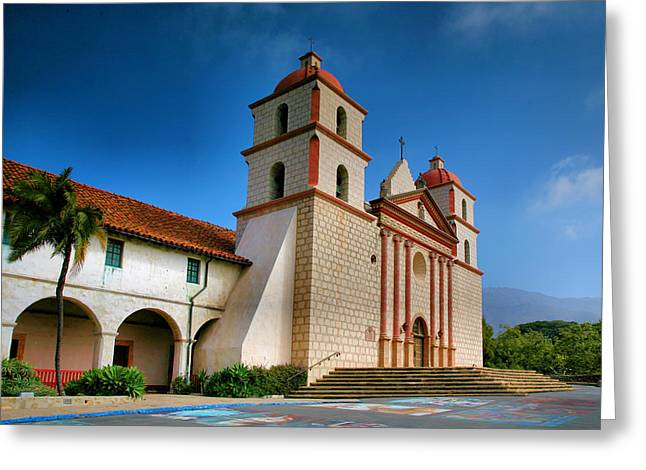 Christian Note Cards Greeting Cards - Mission Santa Barbara II  Greeting Card by Steven Ainsworth