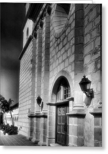 Adobe Greeting Cards - Mission Santa Barbara III Greeting Card by Steven Ainsworth