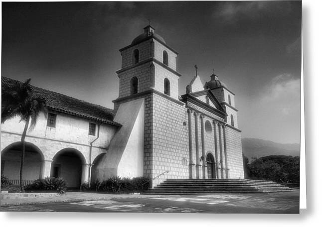 Adobe Greeting Cards - Mission Santa Barbara Greeting Card by Steven Ainsworth