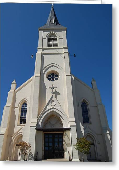 Best Sellers -  - Santa Cruz Art Greeting Cards - Mission Santa Cruz Holy Cross Chruch 2 Greeting Card by James Harper