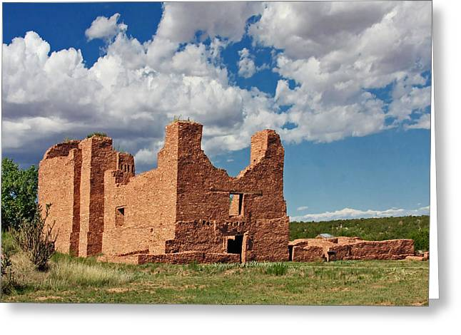 Mission to Quarai New Mexico Greeting Card by Christine Till
