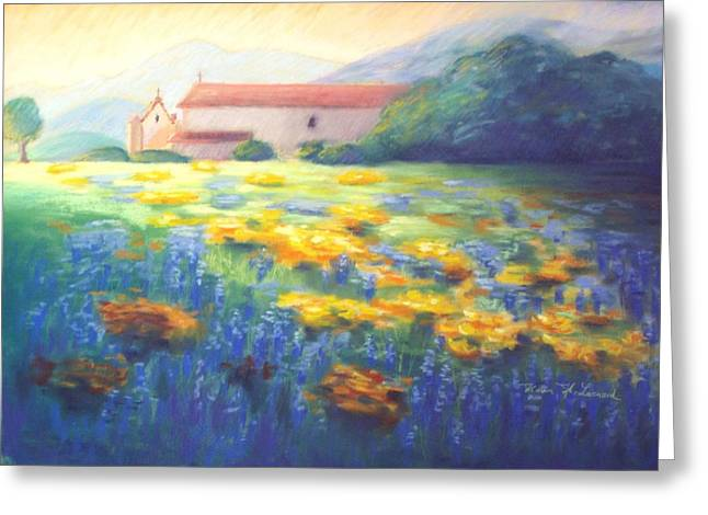 Padua Greeting Cards - Mission Wildflowers Greeting Card by Karin  Leonard