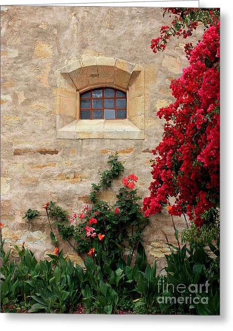 Textures And Colors Greeting Cards - Mission Window Greeting Card by Carol Groenen