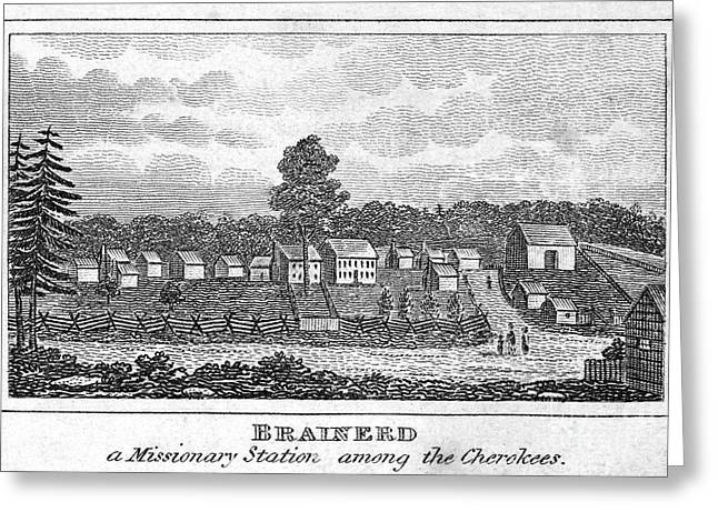 Missionary Station, 1832 Greeting Card by Granger